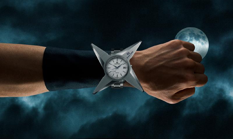 「忍者専用グランドセイコー」をつけた忍者の腕