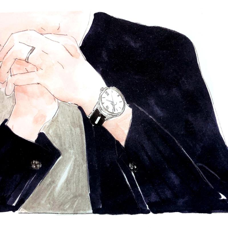 安藤氏が身につけるグランドセイコー(品番SBGA293)のイラスト