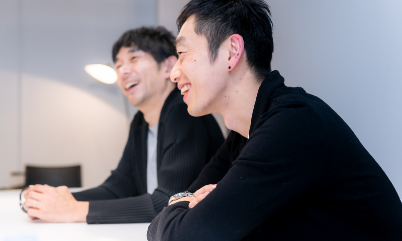 we+の安藤氏と林氏の写真