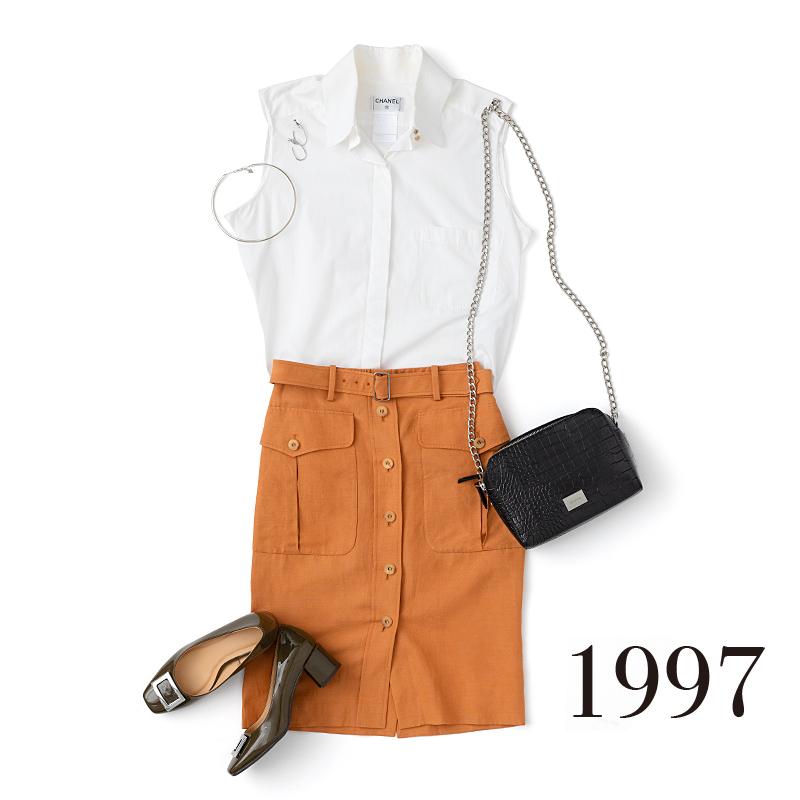 1997年の流行ファッションを並べた写真