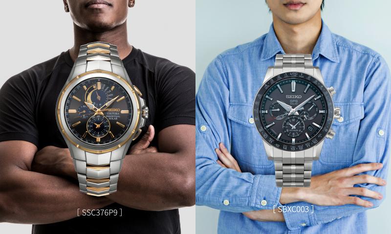 黒Tシャツの黒人男性と[SSC376P9]の写真/Yシャツの細身な男性と[SBXC003]の写真