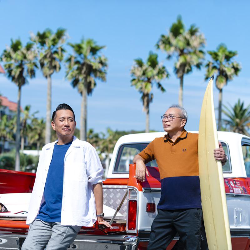 久米寿明と和田猛志の写真
