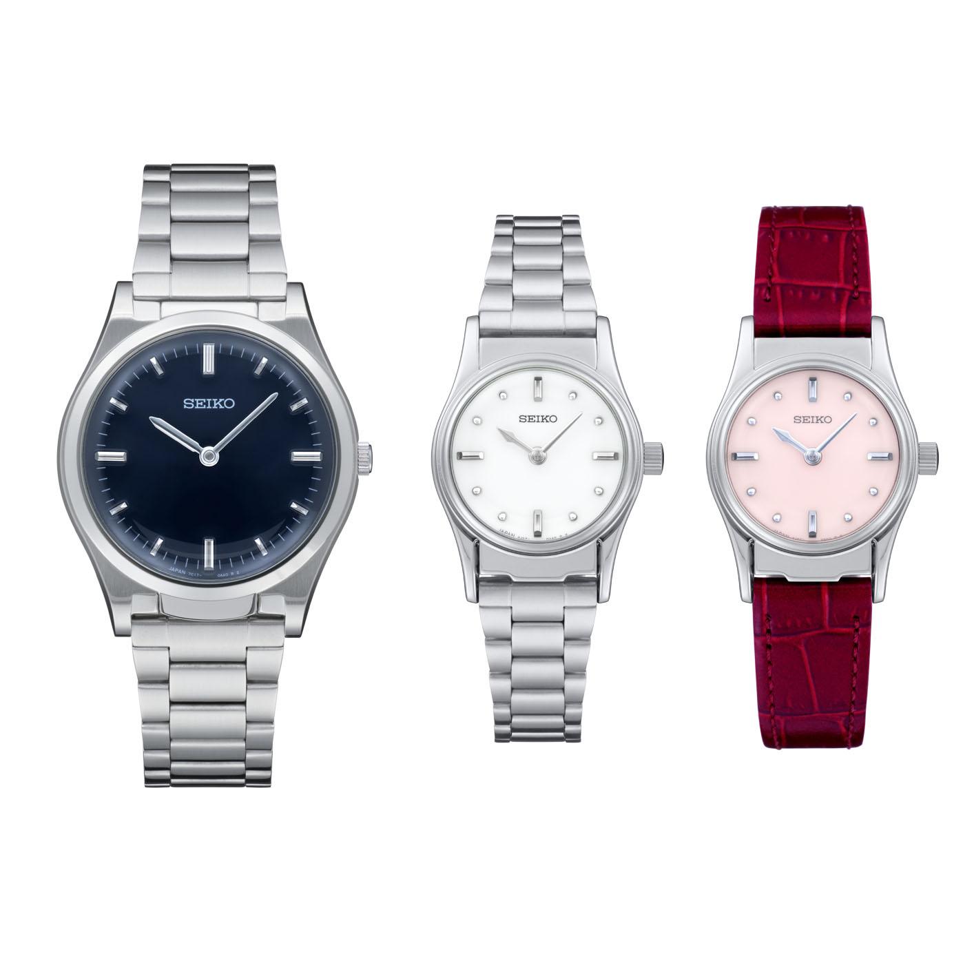 3つの触読時計の写真